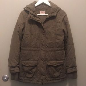 Mossimo Suplly Co. green military jacket